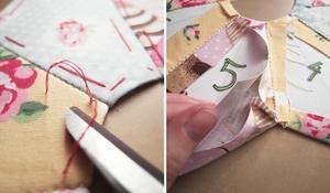 KROK X - Usunięcie fastrygi i papierowych szablonów