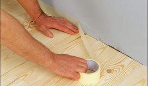 KROK I -  Zabezpiecznie ścian i podłogi