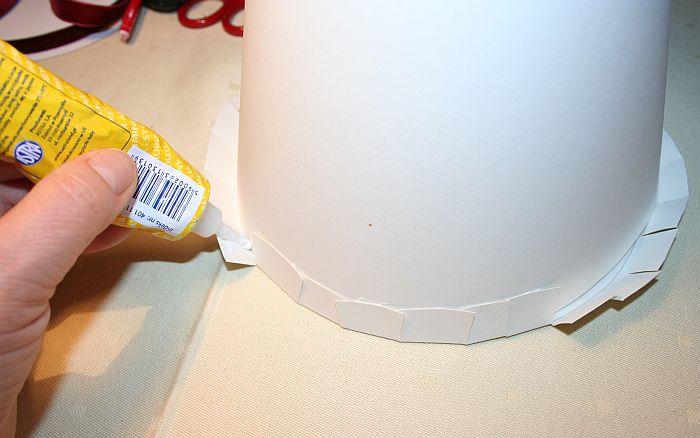 KROK II - Sklejenie stożka i przyklejenie podstawki